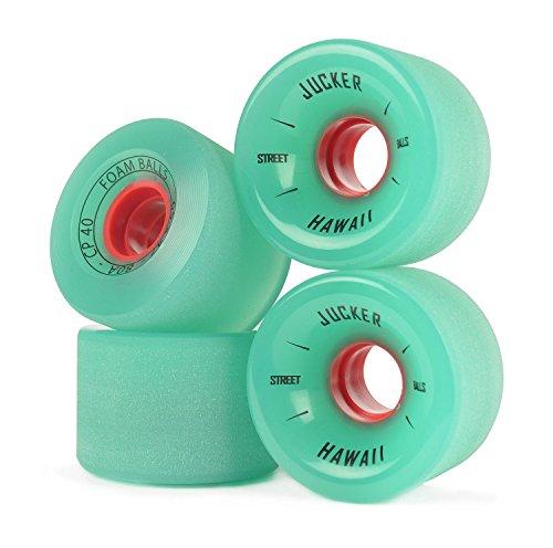 JUCKER HAWAII Longboard Rollen/Wheels STREETBALLS - Foam Balls Green