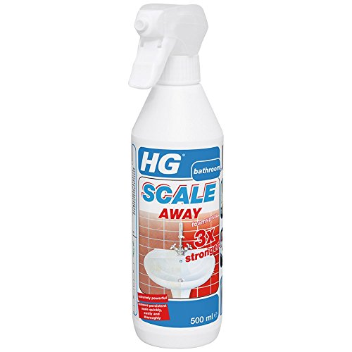 HG Scale Away 3x Stronger Foam Spray, Concentrated Surface Formula, Professional Grade Limescale Remover, Bathroom Descaler, Removes Deposits from Shower Heads, Taps, Baths & Screens (500ml)-605050106