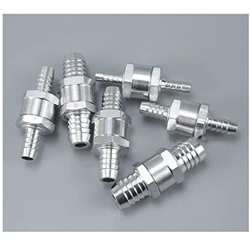 Válvula de retención de aleación de aluminio de 1 unids, 6-16mm Una forma de gasolina y válvula de retención diesel,ajuste del conector de tubería de la manguera de carburador ( Size : O.D 10mm )