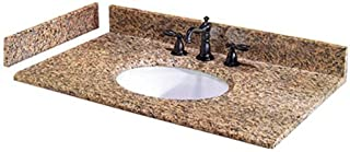 Pegasus PE49649 49-Inch Montesol Granite Vanity Top with White Bowl and 8-Inch Spread