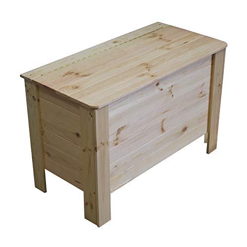 Aufbewahrungskiste Unbehandelt mit Deckel Holztruhe Spielzeugtruhe Spielzeugkiste Wäschebox Holzbox Truhe Allzweckkiste Lagertruhe Deko Kiste Wäschetruhe aus Holz