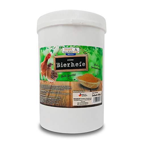WachtelGold Reine Bierhefe 600g - für Wachteln & Hühner - 100% ohne Chemie