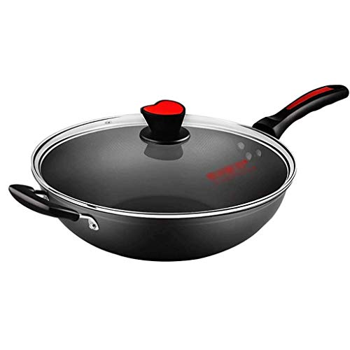 WRMIGN Smokeless wok antiaderente fornello a gas per grandi 36 cm wok gas casa