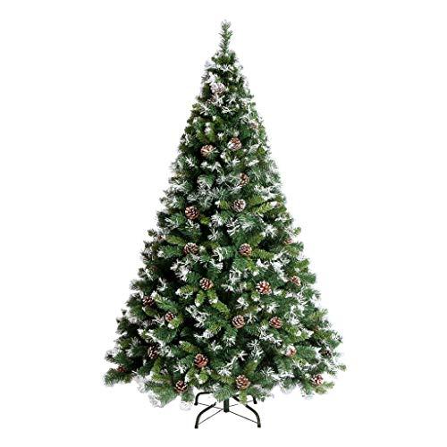 Sapin de Noël Sapin de Noël - Décoration de Noël Flocon de neige Cône de pin Sapin de Noël 1.2/1.5/1.8/2.1 M Arbre de chiffrement de luxe automatique (Couleur : Green, taille : 150cm)