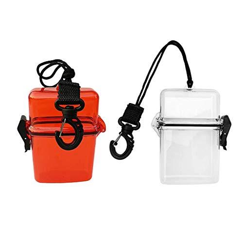 Paquete de 2 cajas secas herméticas, soporte para tarjetas de identificación de dinero a prueba de agua, almacenamiento en seco y seguro