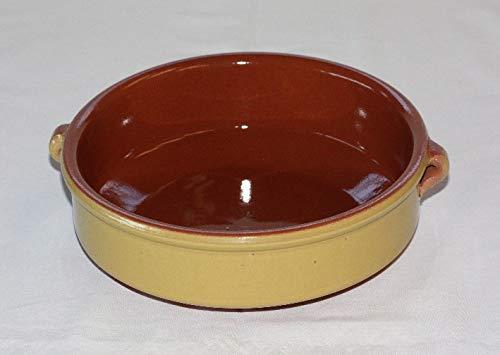 Breda - Casseruola smaltata in terracotta, diametro 32 cm, colore: Giallo