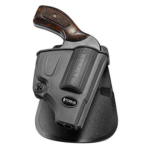 Fobus Nuevo Birmano Pistola Report retención Funda Holster para Smith & Wesson Most 5-Shot J Frame .357& .38S & W Special + P, Funda de Revolver Funda polímero