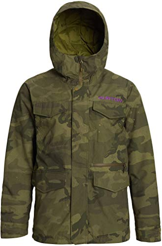 Burton Mens Covert Jacket, Worn Camo, Medium