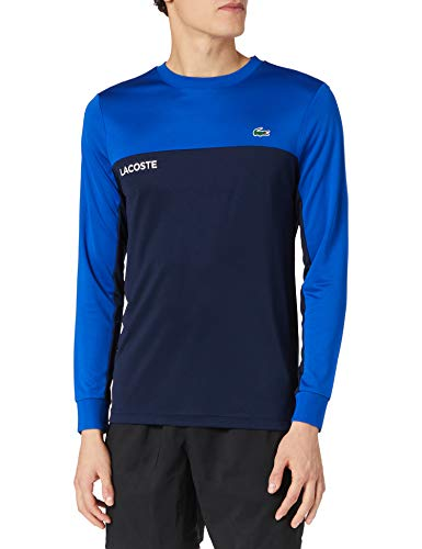 Lacoste TH9672 Camiseta, Lazuli/Marine-Blanc, XXL para Hombre