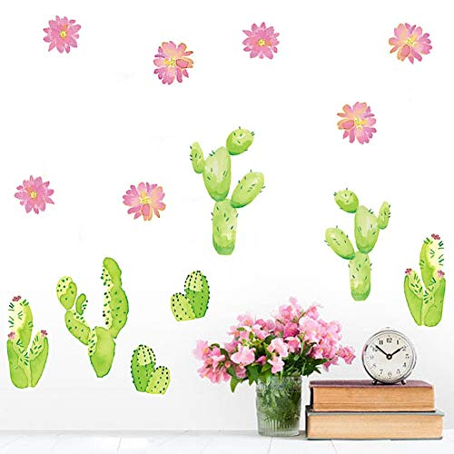 SHQBZPYS 3D DIY wandlabel tuin planten in potten cactus huis woonkamer bloem vlinder