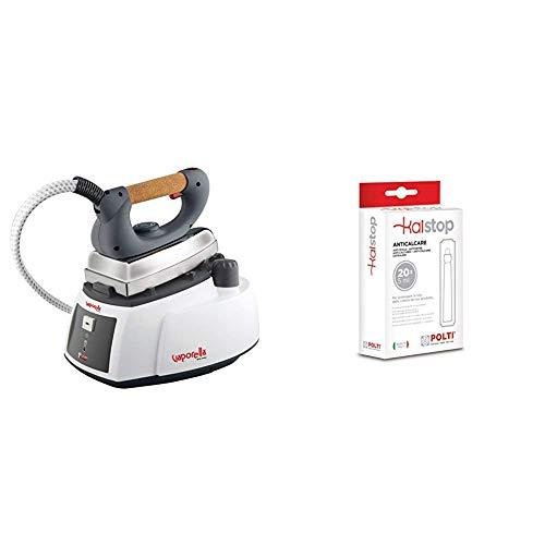 Polti Vaporella 505_Pro Centro de planchado a vapor con caldera, tapón de seguridad, 3.5 bar, 1750 W, Blanco/Gris + Kalstop - Anticalcáreo para aparatos con caldera, no tóxico