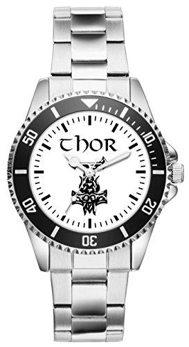 Odin Thors Hammer Wikinger Geschenk Artikel Idee Fan Uhr 1227