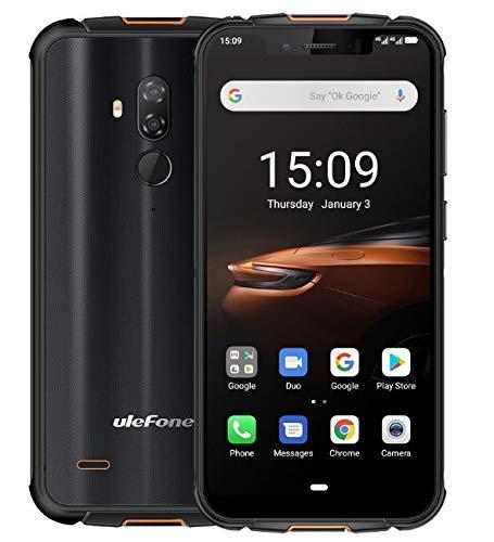 "Ulefone Armor 5S Móviles Libre Antigolpes Android 9.0 - MT6763 Octa-Core 4GB + 64GB, 5.85""HD + Gorilla Glass Teléfono Móvil Resistente 4G, Batería 5000mAh, Carga Inalámbrica QI, NFC/GPS/Dual SIM"