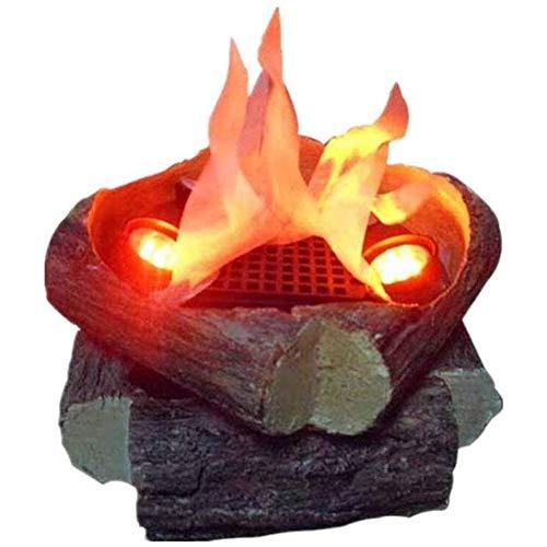 Llama Fuego Chimenea LED Lámpara Lámpara Simulación Electrónica Llama Entrar Efecto Chimenea Cepillado Estilo Adornos Acogedora Decoración Hogar Barra Festival Partido Decoración Halloween Ambiente