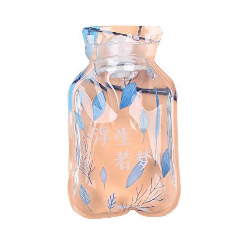 Borsa dell'acqua calda Cover transparent PVC hot water bottle spiral seal Household portable student mini hand warmer Bottiglia d'acqua calda