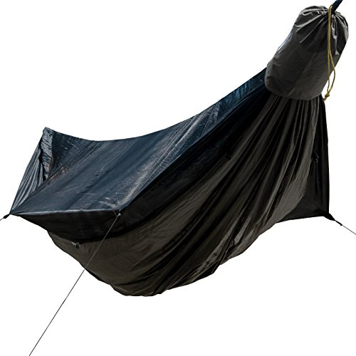 Go Outfitters Go Camping Hammock 2.0 w/Built-in Mosquito Net: 11' Long X 64' Wide |Includes 2 Premium Aluminum Carabiners, Rapid Deployment Bag, 4 Stakes and 4 Shock Cords