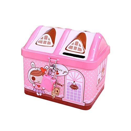 #N/V Linda casa de modelado de hierro Hucha de dinero caja de dinero para niños caja de depósito de monedas