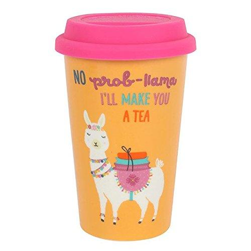 Brown & Ginger Taza de Viaje de cerámica térmica con Tapa