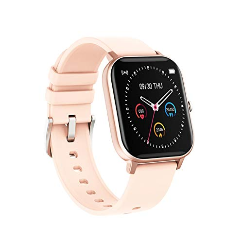 YDL Smart Watch Men Mujeres IP67 Impermeable Fitness Tracker Deporte Monitor De Ritmo Cardíaco Toque Full Touch Smartwatch para Amazfit GTS Xiaomi (Color : Gold)