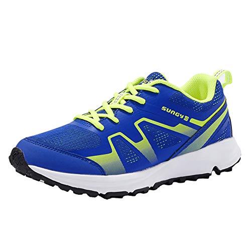 Willsky Zapatillas Para Correr Para Mujer Zapatillas De Deporte Transpirable Livianas Para Amortiguador De Zapatillas De Aptitud Unisex Unisex,Azul,39EU