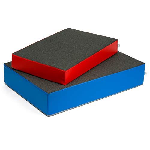 Sport-Thieme Hüpfkissen | Hüpfmatratze für Kinder | Rutschfestes Indoor-Trampolin mit Spezial-Federung | In Zwei Größen: 107x70x17 ODER 130x90x25 cm | 8,5-15 kg | Blau o. Rot