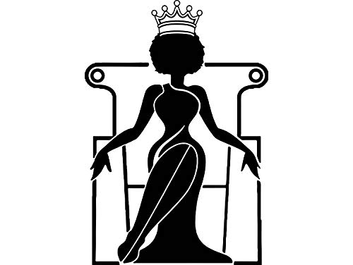 EvelynDavid Black Woman Stylish Princess Princess Queen Afro Hair Beautiful African American Female Lady Sticker Vinyl Decal Vector Clipart Digital Circuit Cut Cutting