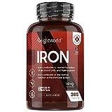 Integratore Ferro 14 mg - 365 Ferro Compresse Vegan (Scorta per 1 Anno) - Il Ferro Contribuisce al Normale Metabolismo Energetico - Ferro Integratore 100% Naturale - Ferro Fumarato Senza Glutine
