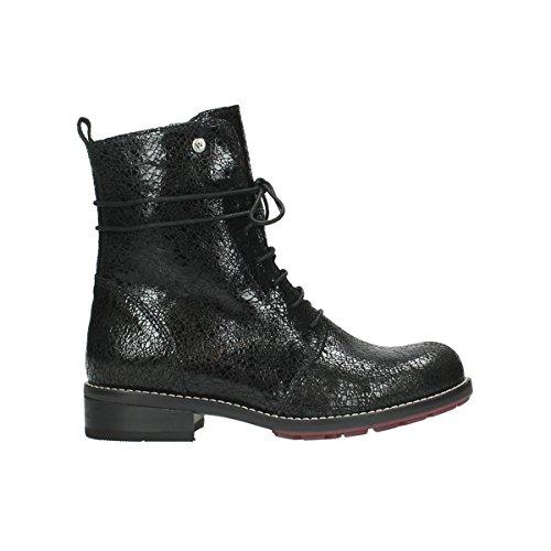 Wolky Comfort Stiefel Murray - 90000 schwarz craquelé Leder - 39