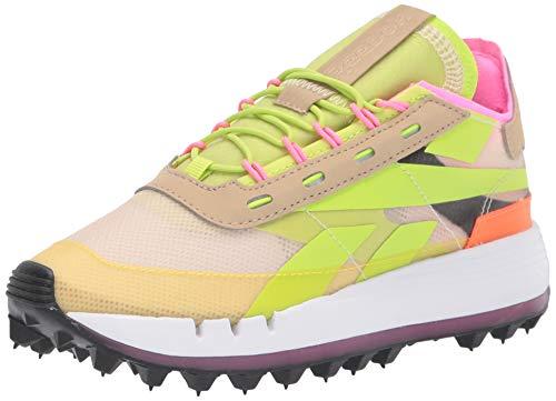 Reebok Women's Legacy 83 Sneaker, Alabaster/Utility Yellow/Solar Orange, 10