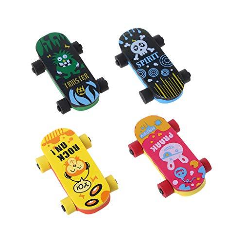 Wanfor Kreatives Skateboard-Radiergummi, Bleistift, Gummi-Reiniger, Schreibzubehör für Kinder, Geschenk