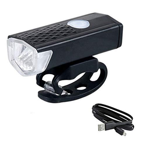 Leiouser - Linterna LED recargable USB para bicicleta