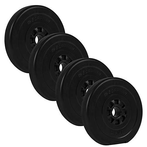 Xylo 10KG (4x2,5KG) Hantelscheiben-Set Kunststoff Gewichte 30mm Hanteln für das Workout im Heimbereich Home Gym Krafttraining Zement Sand füllung Fitness
