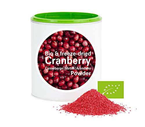 Canneberge en poudre - Lyophilisées|biologique|végan|crue|pure fruits|sans additives|riches en vitamins|Good Nutritions 60g