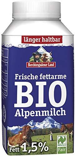 Berchtesgadener Land Bio Frische Bio-Alpenmilch - fettarm 1,5% Fett (6 x 250 ml)