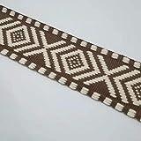 Tusin 4 cm breites Baumwollgewebe, vierseitiges Muster,