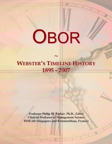 Obor: Webster's Timeline History, 1895 - 2007