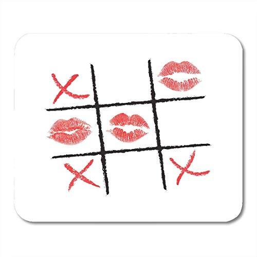 Mauspad ric tac toe lippenstift und eyeliner des roten kreuzes machen mousepad für notebooks,...
