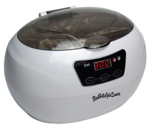 Professional Ultrasonic Cleaner - 30 Minute Timer - Cleans Jewelry, Watches, Eyeglasses, Dentures, Razors, Coins - 120v Sonic Cleaning - Digital Timer with 18 Cycles - BlackHillsGoldSource Model 890