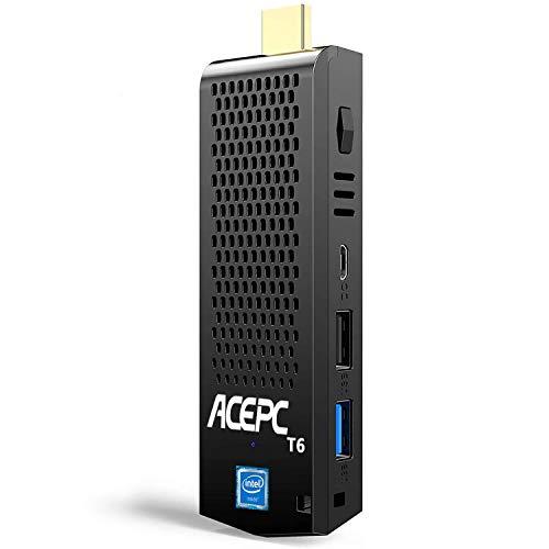 Mini PC Stick 8GB RAM/ 120GB ROM, Intel Atom Z8350 Stick Computer Windows 10 Pro (64-Bit), Unterstützung von 4K HD, Dual-Band WLAN, USB 3.0, Bluetooth 4.2