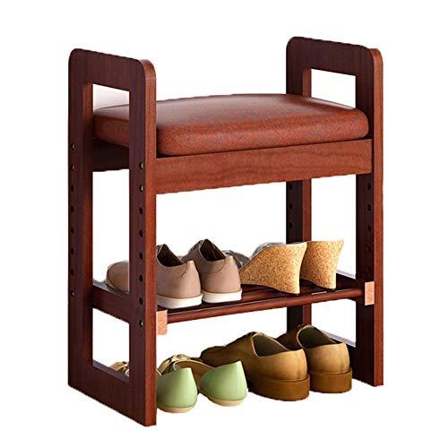 FSYGZJ Zapatero de Madera Maciza Banco de Zapatos de Sala de Estar Moderno y Simple Zapatero de Estructura sólida Zapatero Taburete de Almacenamiento Taburete de sofá Conveniente y práctico (Color: