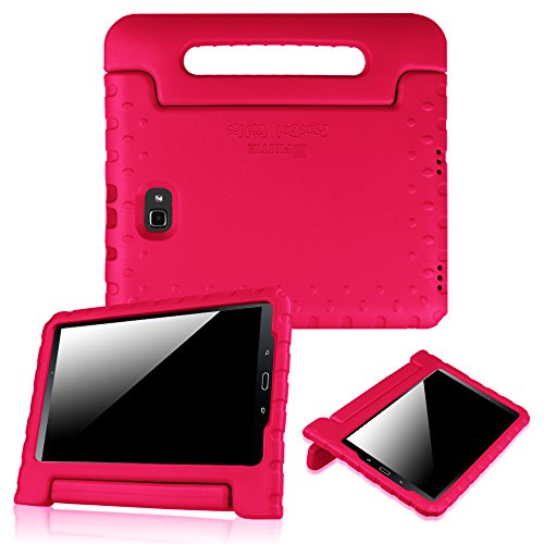 Fintie Shockproof Case for Samsung Galaxy Tab A 10.1 (2016 NO S Pen Version), Light Weight Convertible Handle Stand Kids Friendly Cover for Samsung Galaxy Tab A 10.1 Inch (SM-T580/T585/T587), Magenta