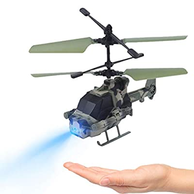 Xianggu Helicopter Remote Control Helicopter, Induction Aircraft Flying Toys, Mini Flying RC Infraed Induction Helicopter Aircraft Flashing Light Toys for Kids Amateur by Xianggu