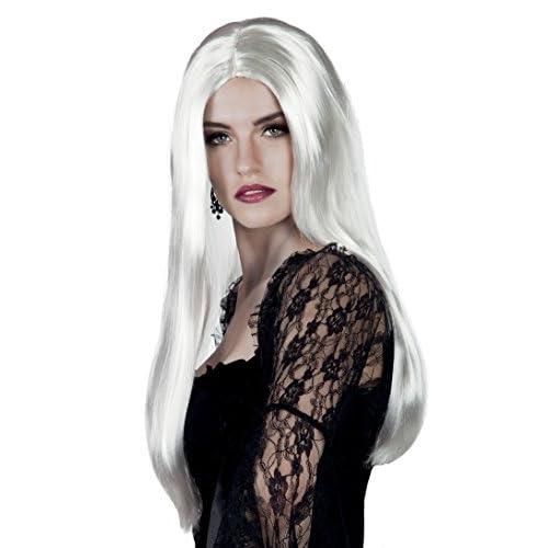 Boland- Parrucca Lunga Strega Bewitched per Adulti, Bianco, Taglia Unica, 86098