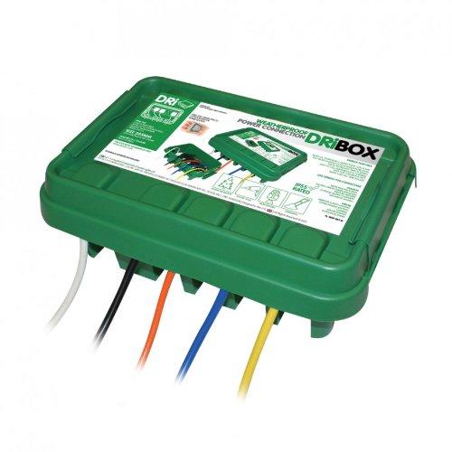 Dribox Wetterfeste Box Anschlußkasten für elektrische Geräte und Kabeln, IP55, grün, FL-1859-285G