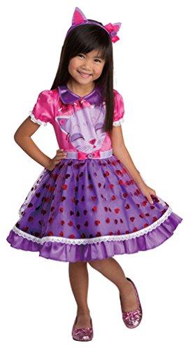 Karneval-Klamotten Katze Kostüm Kinder Katze-Kleid Mädchen-Kostüm mit Haarreif Ohren Kitty Karneval Kinder-Kostüm