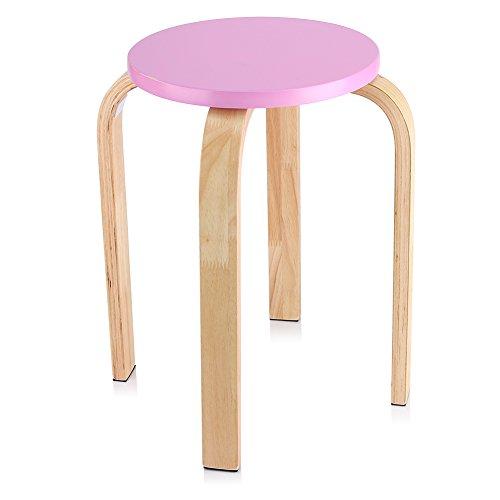 Stapelhocker, Rund Holzhocker Rose Küchenhocker Sitzhocker Anti-Rutsch-Hocker für Zuhause, Kindermöbel, Zimmerdekoration, 40 x 45,5 cm