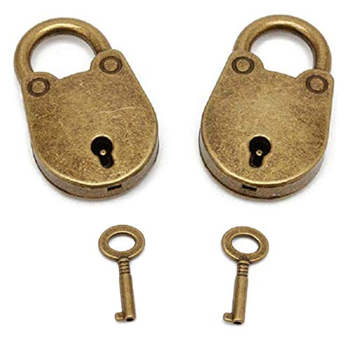 mciskin Mini candados de estilo antiguo vintage con llave, mini candado antiguo...