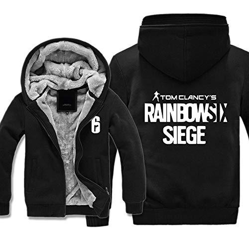 Herren Kapuzenpullover Spiel Rainbow SIX Siege Sweater Plus Dicke Samt Jacken Warme Tops Zipper Hoodies 3-4XL