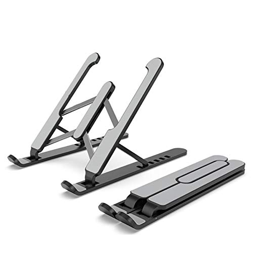 Computer Stand for Laptop, Universal 7-Level Adjustable Lightweight Aluminum Laptop Stand, Ergonomic Foldable Portable Computer Stand Dell, HP, Acer, Lenovo 10-15.6 inch Laptop (Color : Black)