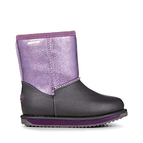 EMU Australia Sparkle Trigg Kids Wool Waterproof Boots Size 8 EMU Boots Grape